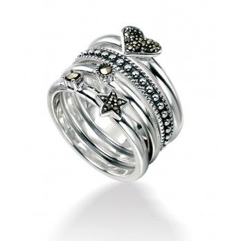 Sterling Silver Assorted #Stacking #Ring    http://www.jewellery-outlet.co.uk/products/r2748-stack-assorted-ring-by-elements-silver.php