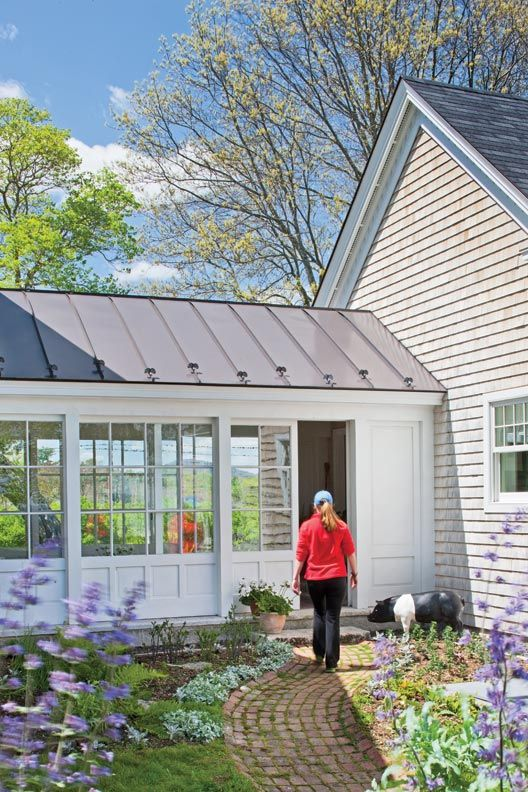 Preserving a summer home in maine breezeway for Breezeway connecting garage to house