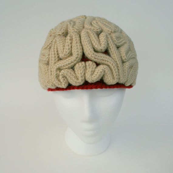Crochet Pattern: The Brain Beanie | Pinterest | Gorros, Tejido y ...