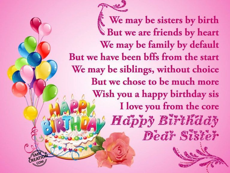 for Sister from Brother (With images) Birthday wishes