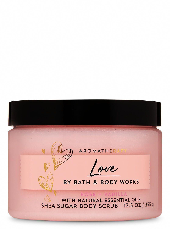 Bath & Body Works Rose Vanilla Shea Sugar Body Scrub