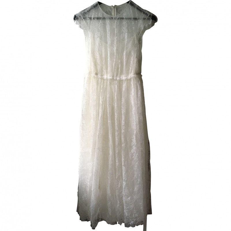 b53f0db08cc white Plain Silk VALENTINO Dress - Vestiaire Collective
