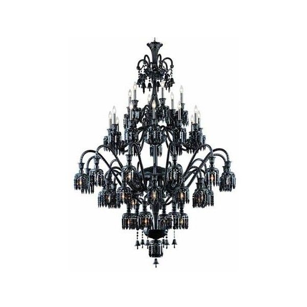 Elegant Lighting Majestic Black 48-Light Chandelier ($10558) ? liked on Polyvore featuring home lighting ceiling lights chain light colored chu2026  sc 1 st  Pinterest & Elegant Lighting Majestic Black 48-Light Chandelier ($10558 ...