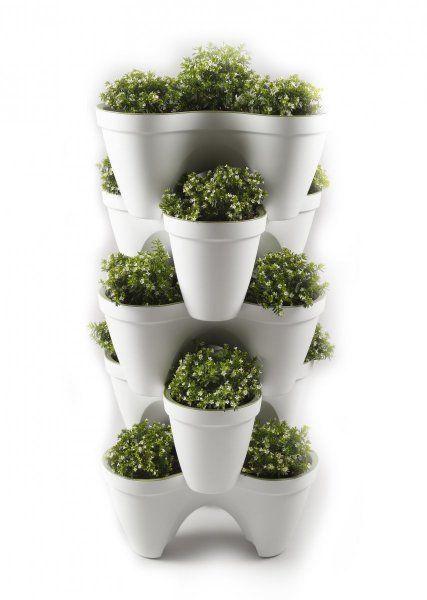 Macetas apilables ideales para las hierbas de cocina for Macetas para cocina