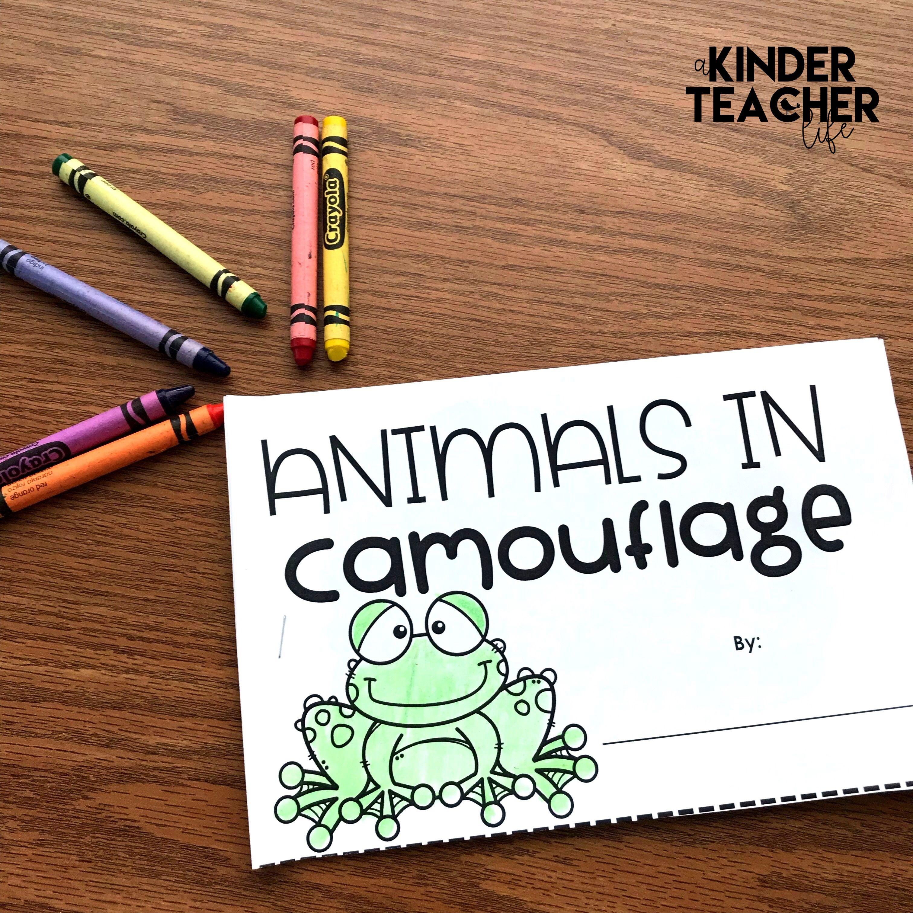 Animals In Camouflage Printable Booklet Kindergarten Science Activities Sequencing Activities Kindergarten Camouflage Activities
