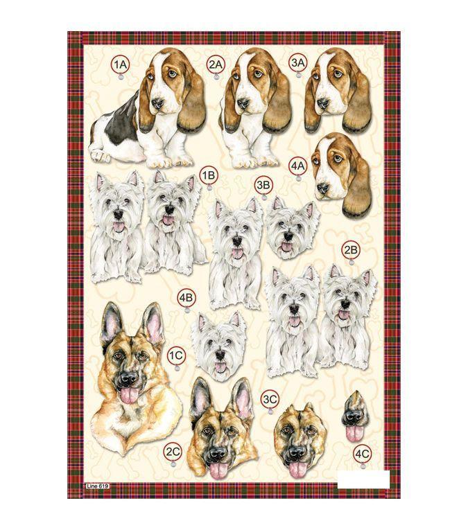 Craft UK 3-D Die-Cut Decoupage Sheet Scotty Dog