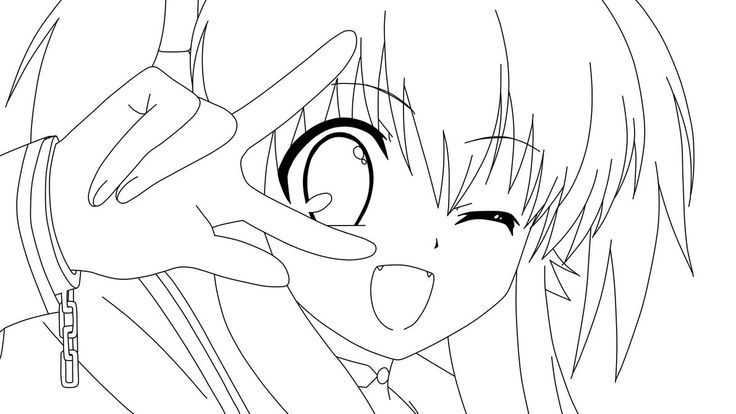 Angel Beats Anime Coloring Page Google Search