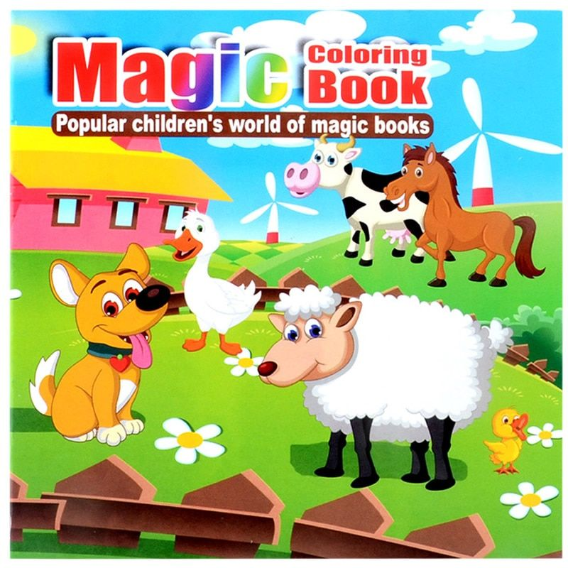 22 Pages New Cute Livestock Secret Garden Painting Drawing Kill