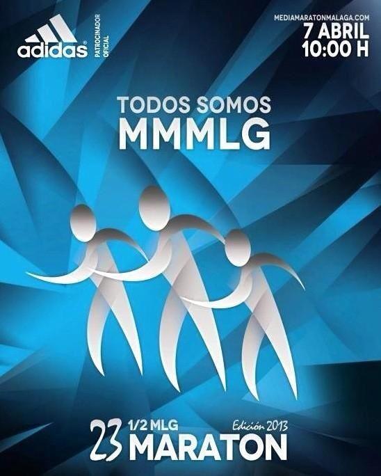 XXIII Media Maratón de Málaga que se celebrará el 7 de Abril de 2013. Ya estoy inscrito y espero acabarla y si puede ser con una buena marca, pues mejor.