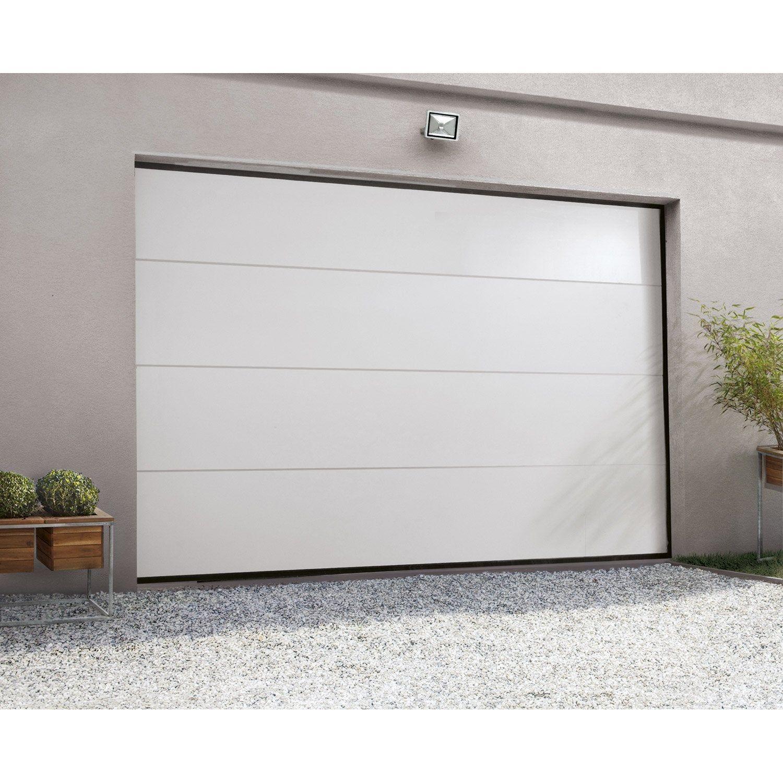 Porte De Garage Sectionnelle Motorisee Artens Essentiel H 200 X L