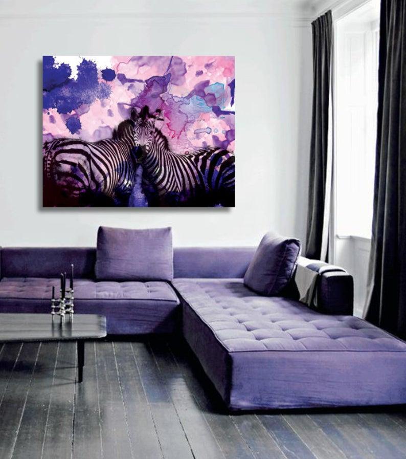 Purple Zebra Zebra Watercolor Zebra Painting Zebra Nursery Etsy Zebra Room Decor Zebra Nursery Zebra Room