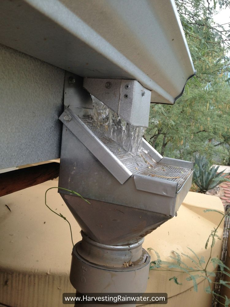 Rainhead Screen Filter Debris From Roof Gutters Water