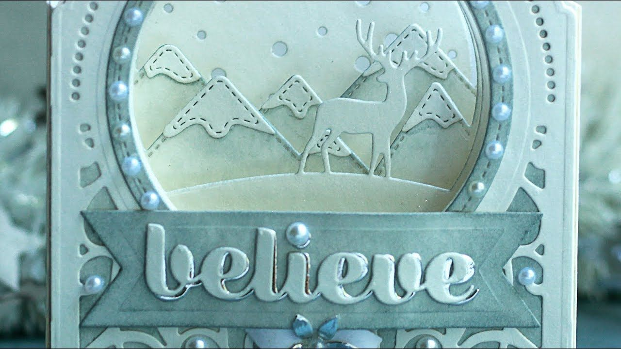 WHITE CHRISTMAS 2018 - DAY 2 - Foldable Diorama Card - YouTube | SU ...