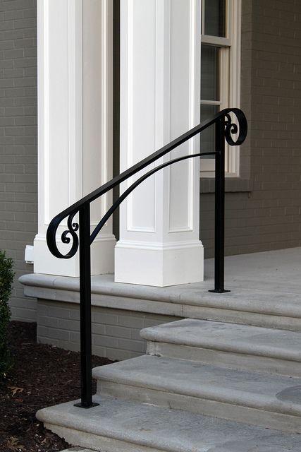 Installation 9 9 13 Powder Coating In Matte Black Over Hand | Black Outdoor Stair Railing | Interior Stair | Modern | Pipe | Composite Deck | 2 Step