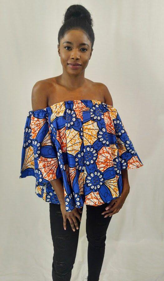 7792ffa96354e7 African off shoulder, Off shoulder top, African print off shoulder, Ankara  Off Shoulder, Ankara Top, African top, African clothing | Off shoulder  Blouse ...