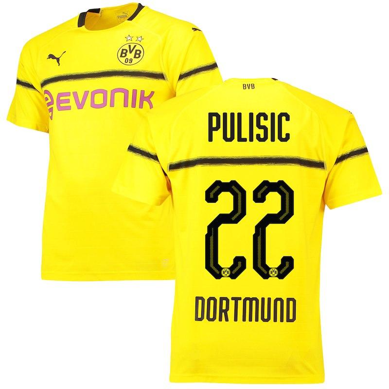 dbe0a73423f Christian Pulisic Borussia Dortmund Puma 2018 Third Replica Player Jersey –  Yellow