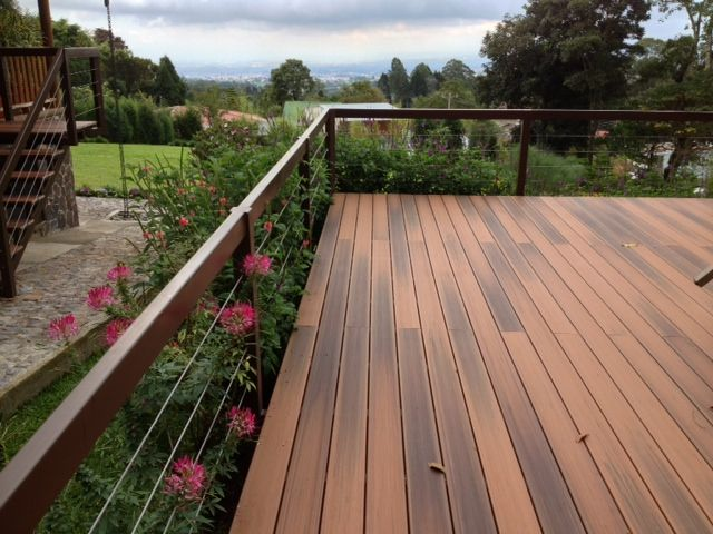 Best Duralife Brazilian Cherry Deck Deck Railings Composite 640 x 480