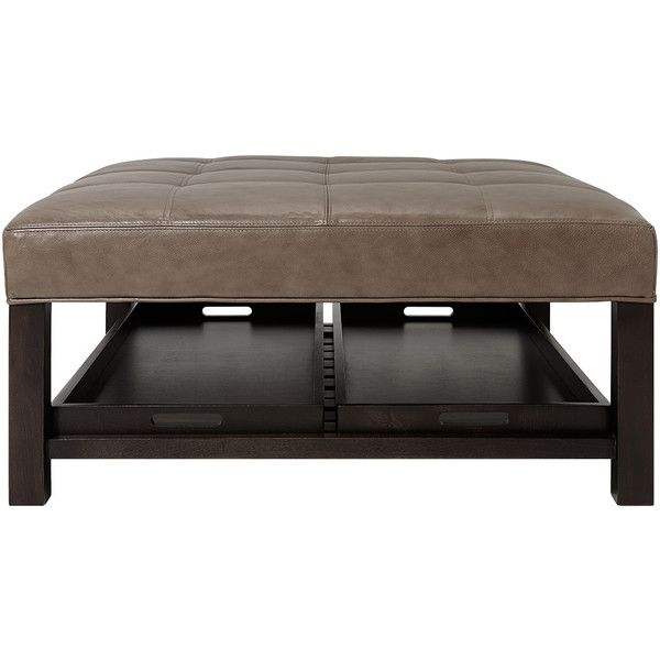 Enjoyable Butler 39 Tufted Leather Square Biscuit Ottoman In Lil Ibusinesslaw Wood Chair Design Ideas Ibusinesslaworg