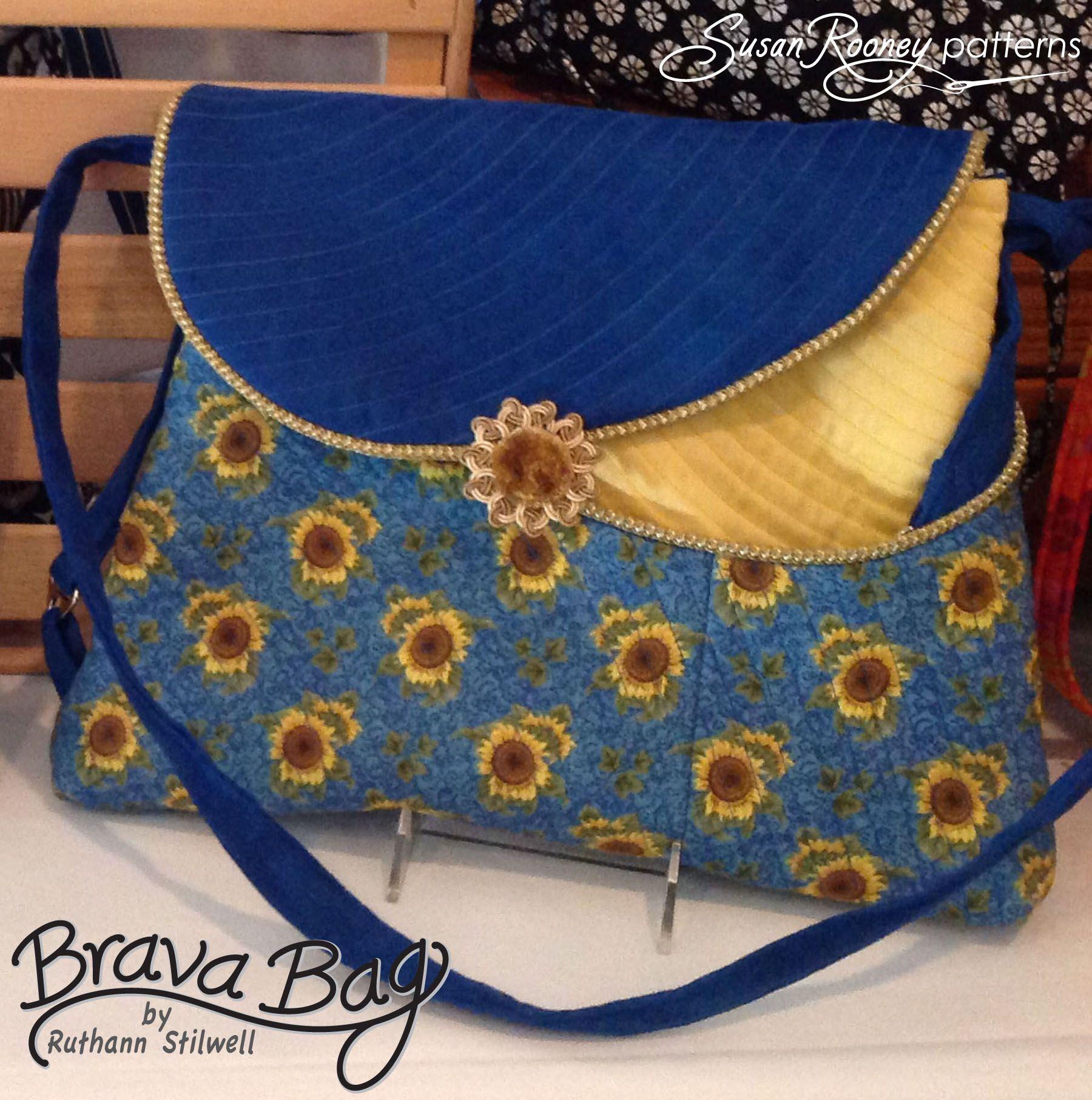 Susan Rooney Patterns Brava Bag Sunflowers