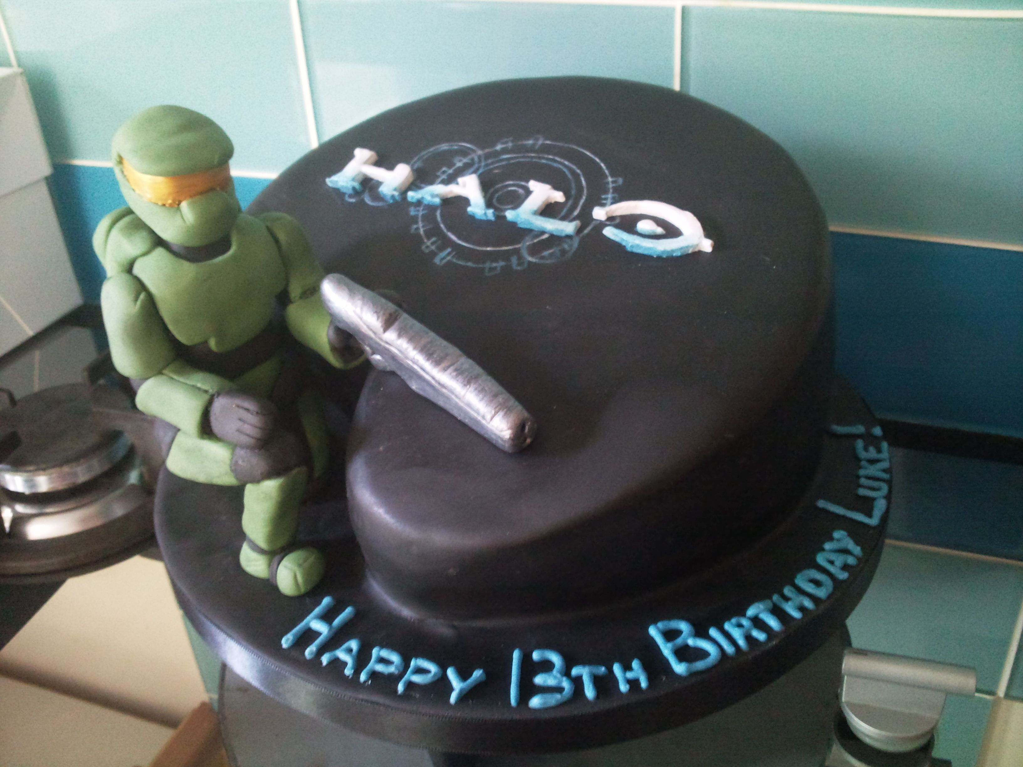 Halo 13th birthday cake Desserts Pinterest 13th birthday cakes