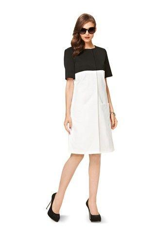 Burda - 7077 patroon mantel en jurk | Naaipatronen.nl | zelfmaakmode patroon online
