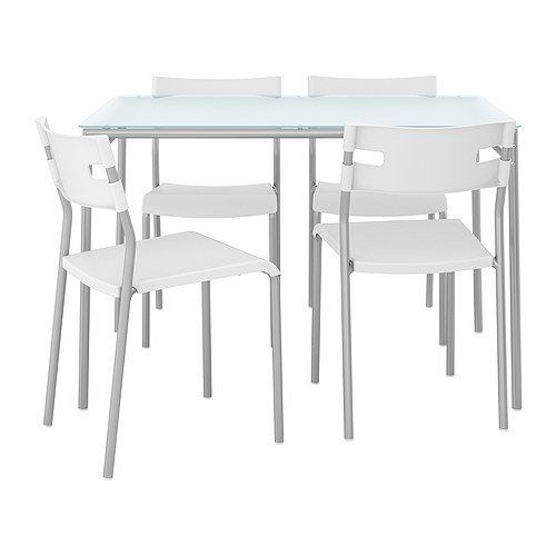 Ikea Glass Dining Table and 4 Chairs
