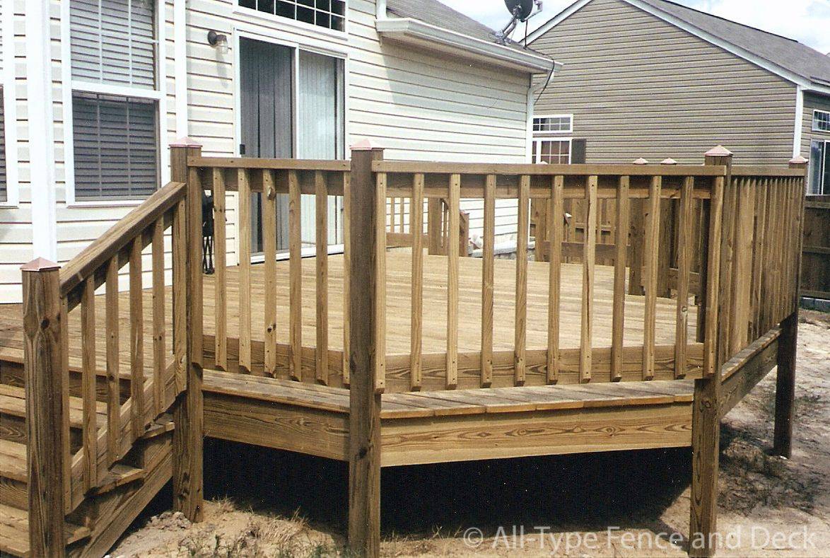 Deck railing designs wood 9 deck railing designs wood for Timber deck construction