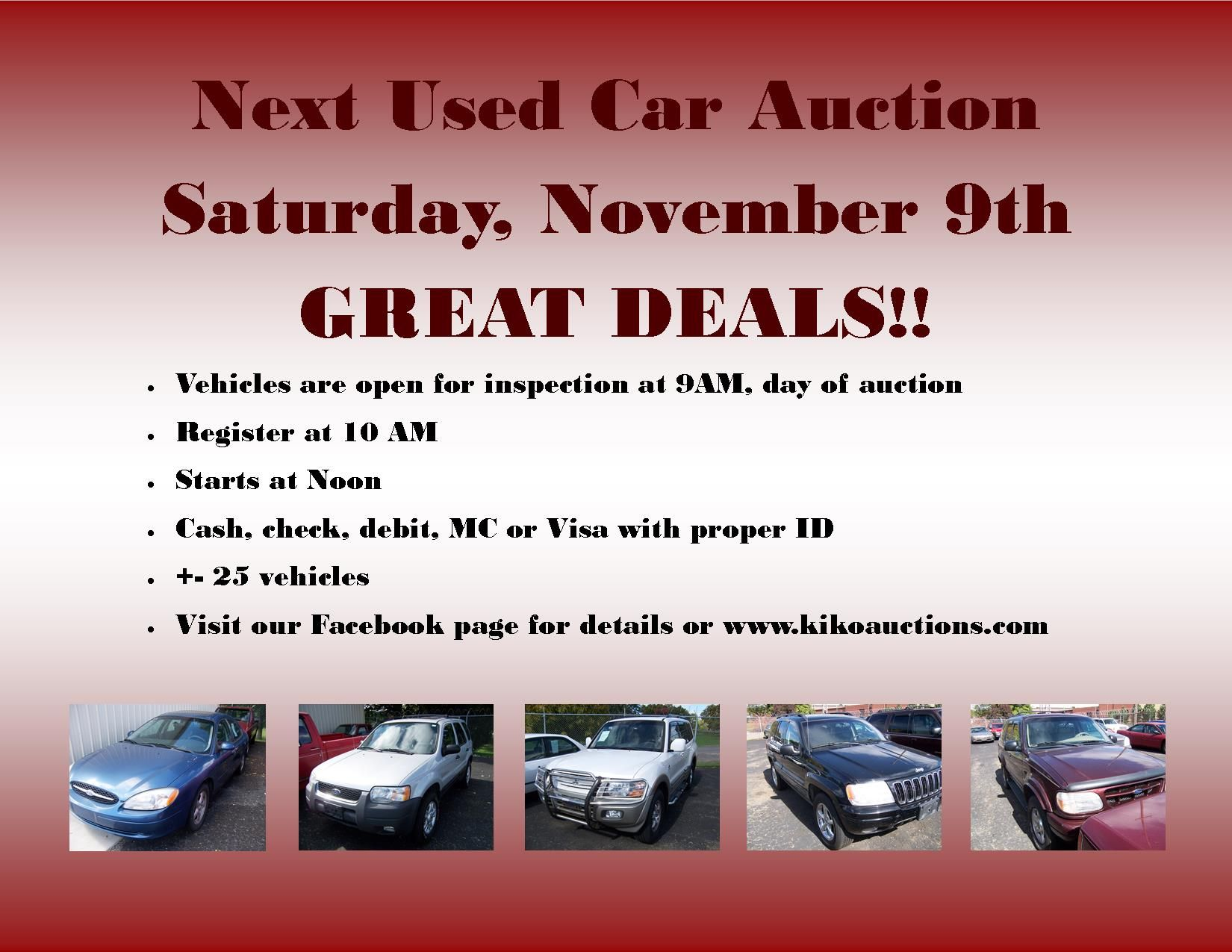 KIKO Auctioneers and Realtors   Car auctions, Used cars ...