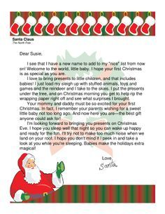 Letter from santa for babys first christmas christmas pinterest letter from santa for babys first christmas spiritdancerdesigns Image collections