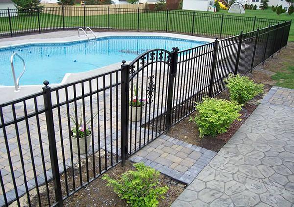 Fence - pool- patio | Backyard pool landscaping, Pool ...