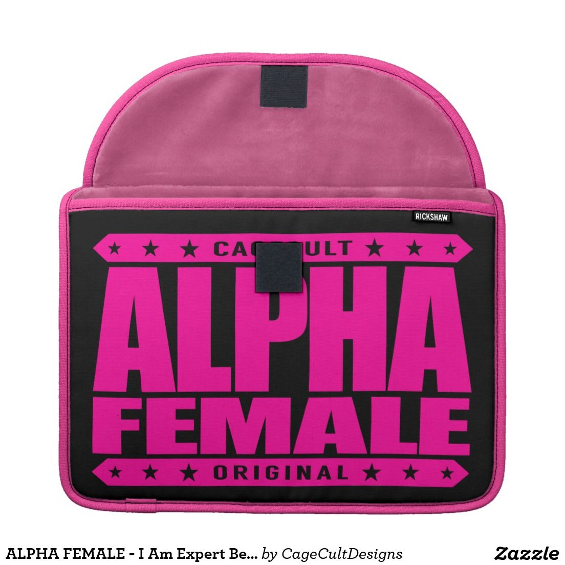 ALPHA FEMALE - I Am Expert Beta Male Tester, Pink MacBook Pro Sleeve - if you love #MMA - #UFC - #MixedMartialArts, you will love my latest CageCult design: http://www.zazzle.com/alpha_female_i_am_expert_beta_male_tester_pink_macbook_sleeve-204045030072623407?CMPN=shareicon&lang=en&rf=238007256032371611