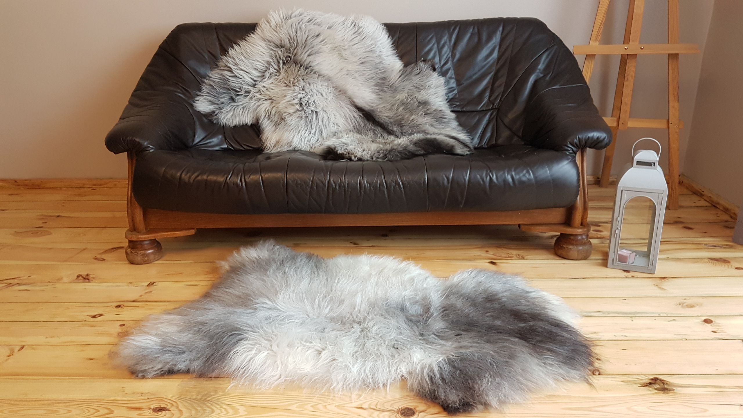 Genuine Sheepskin Melerade 100 Natural Exclusive Carpet Nordic Style Perfect Gift Uniqe Luxury Rug Long Wool Mix Grey Pelt Luxury Rug Nordic Style Sheepskin