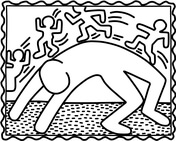 Bridge Exercise By Keith Haring Coloring Page Keith Haring Art Pop Art Coloring Pages Keith Haring