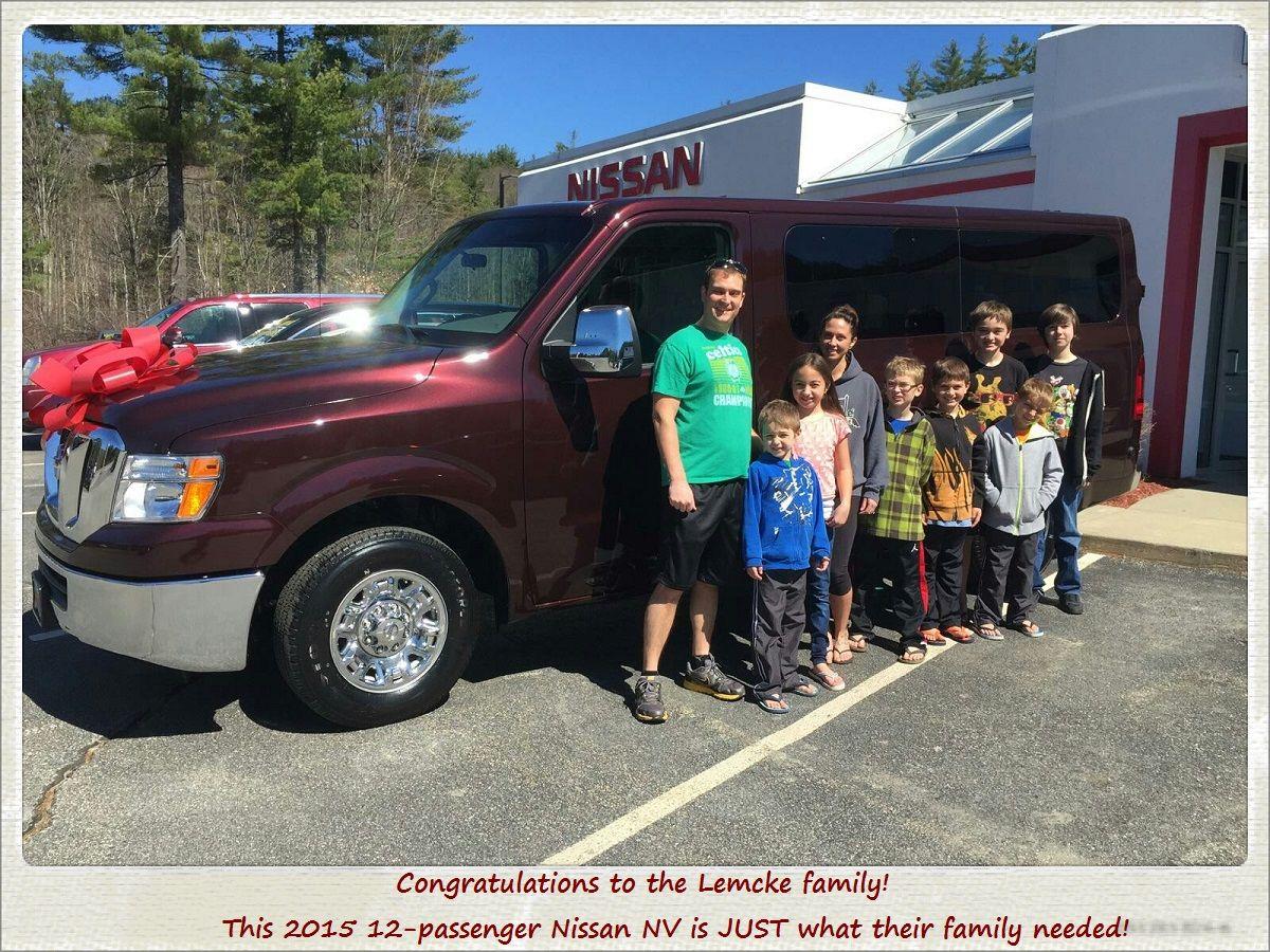 Lemcke Family (of 9) Picking Up Their New 2015 Nissan NV