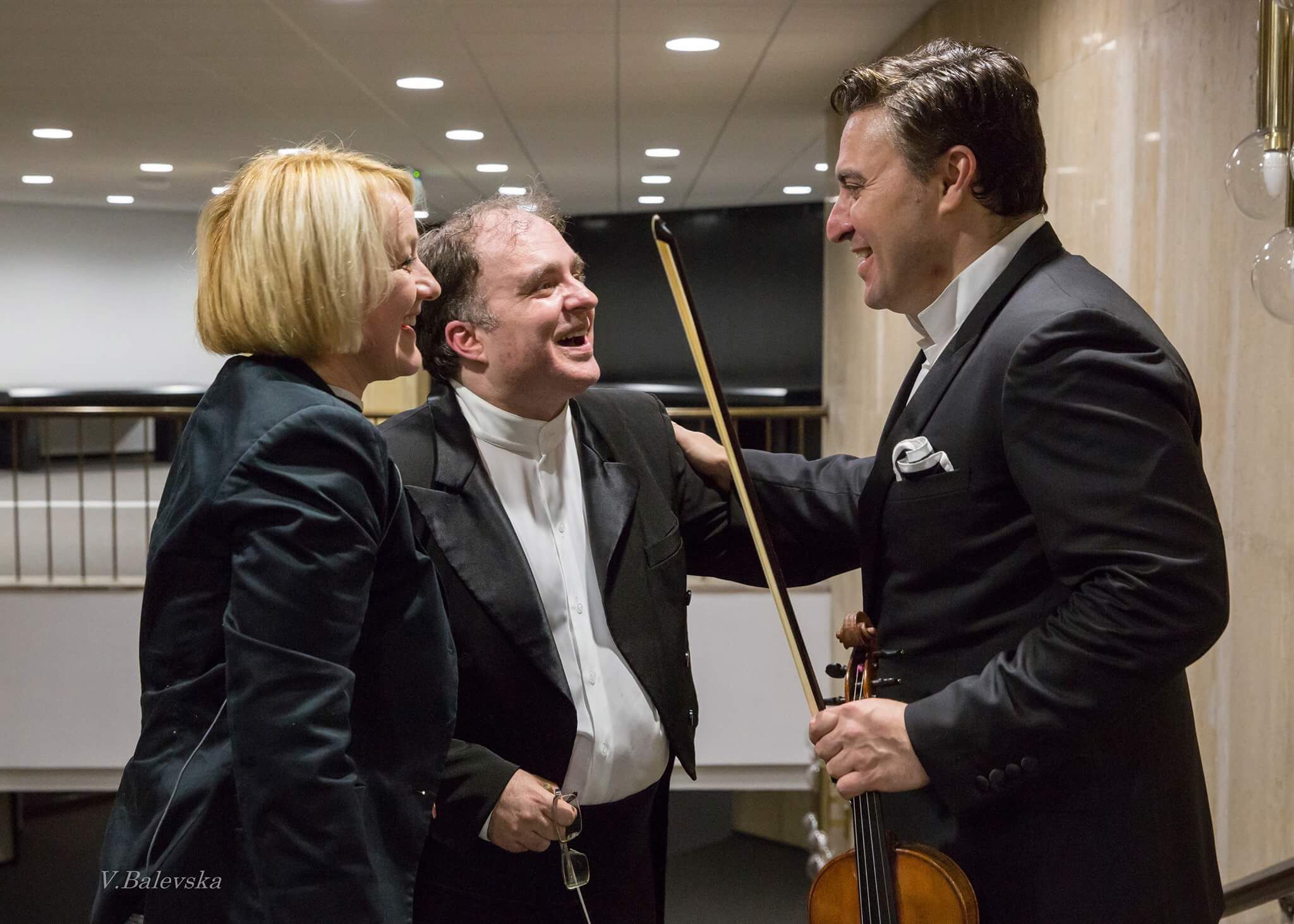 After a wonderful concert with Maxim Vengerov.