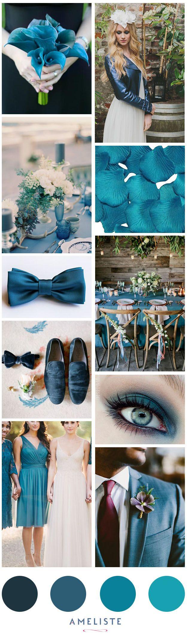 Decoration Mariage Bleu Canard