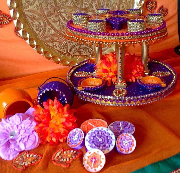 Mehndi Thaal Decoration Ideas I : Mehndi event and plate decorating ideas page