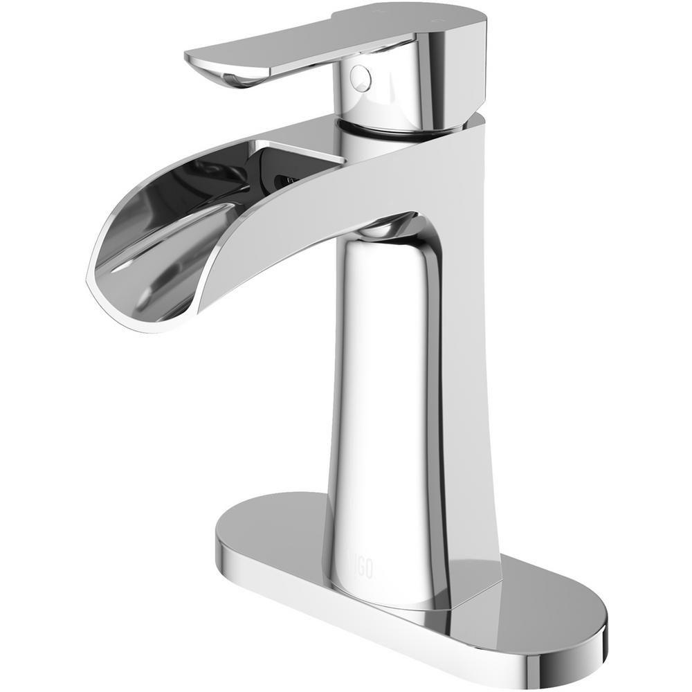 Vigo Paloma Single Hole Single Handle Bathroom Faucet With Deck
