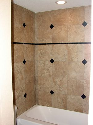 Ceramic Tile Tub Surround Ideas | Tile And Granite Inserts To The Tub Walls  A Href