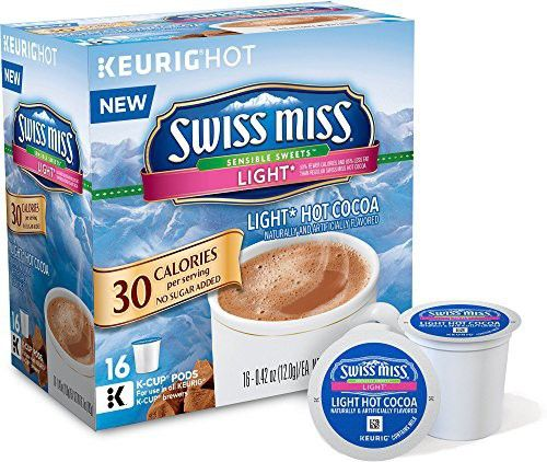Swiss Miss Sensible Sweets Light Hot Cocoa K Cups 16 Count Hot Cocoa Swiss Miss K Cup Flavors