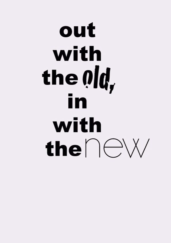 A fresh NEW start for getting rid of Old Bad Habits and replacing ...