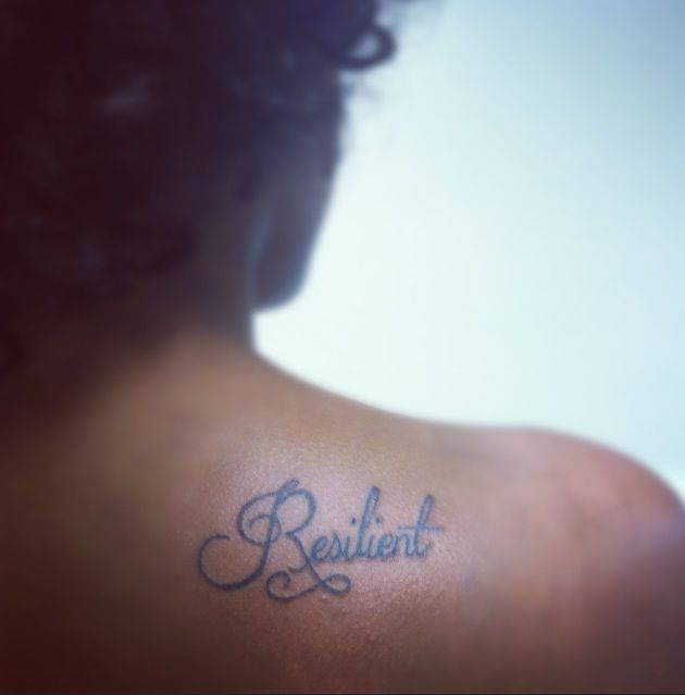 Always Reminding Myself That I Am Resilient. #tattoo