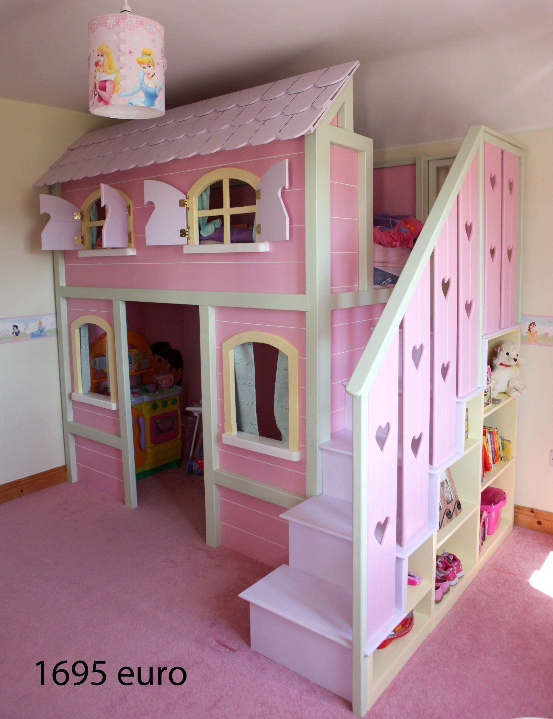 Mini loft bed with slide  Yarelis Diaz yarelisdiaz on Pinterest