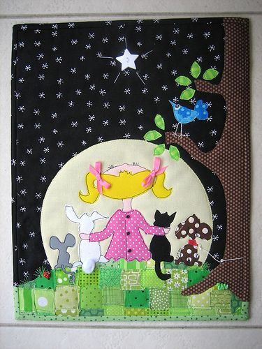 Love the creativity in this little whimsical art quilt.
