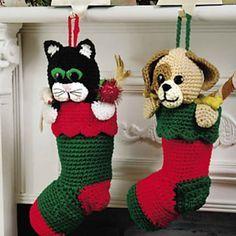 Stockings Pattern, Craft, Christmas Stocking Crochet, Crochet Christmas, Pets, Pet Stockings, Christmas Stockings, Crochet Stocking