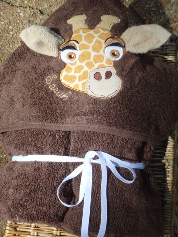 Giraffe Hooded Towel by SarahSunshineDesigns on Etsy, $25.00