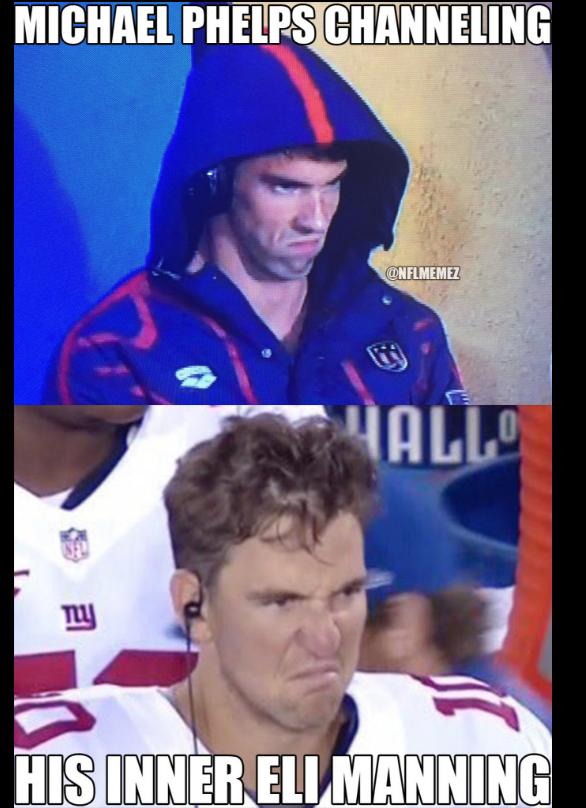 Pin By Let S Talk Fantasy Football On Fantasy Football Memes Phelps Meme Michael Phelps Nfl Memes