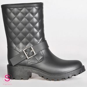Moto Quilted Black