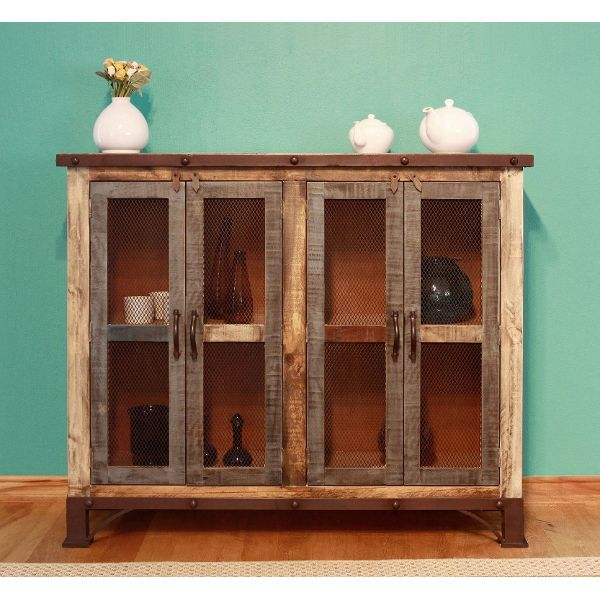 Rustic Reclaimed Wood Console   Antique Collection