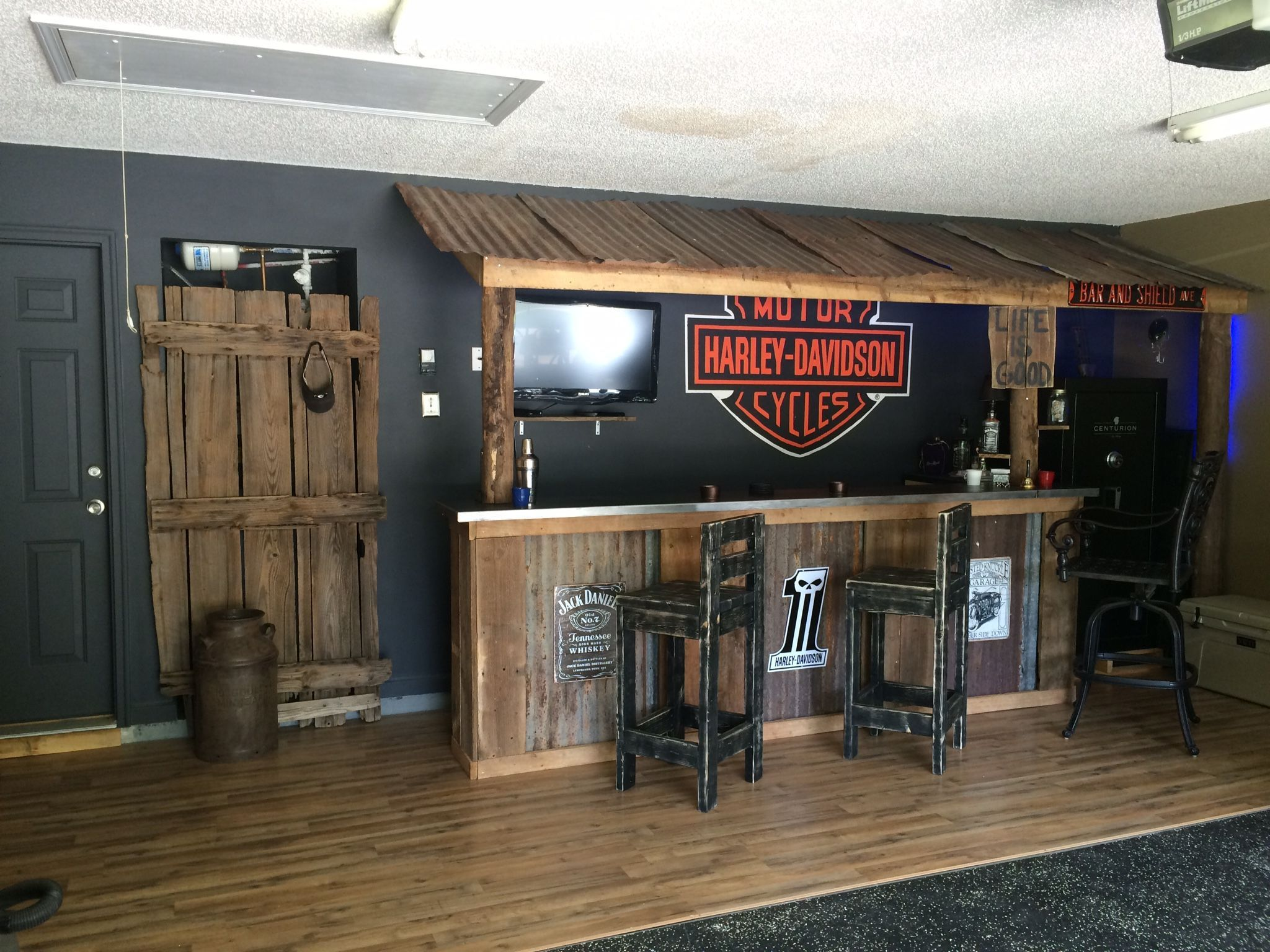 Outstanding Harley Davidson Living Room Image Ideas Garage